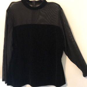 Stunning black velvet top
